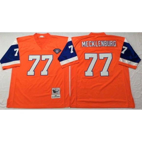 Denver Broncos Karl Mecklenburg Orange Jersey
